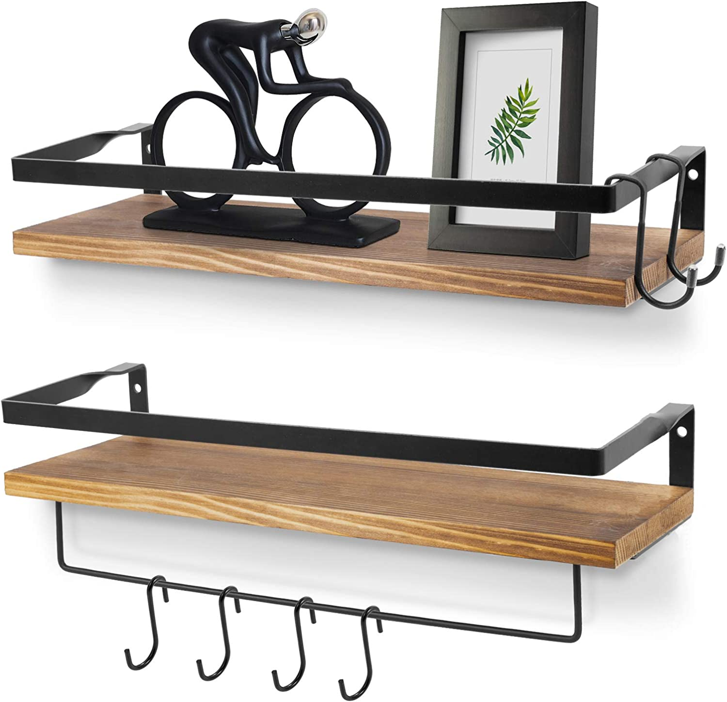Floating Shelves Cheap mail Excellence order sales Wall Mounted Rustic H 5 Wood with