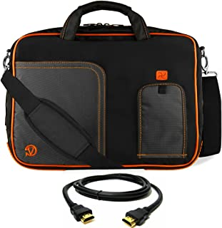 VanGoddy Orange Trim Laptop Bag for Dell Latitude/Inspiron/Precision/XPS/Alienware