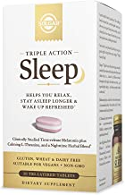 Solgar Triple Action Sleep, 30 Tri-Layer Tablets - Time-Release Melatonin & L-Theanine Plus Herbal Blend - ...