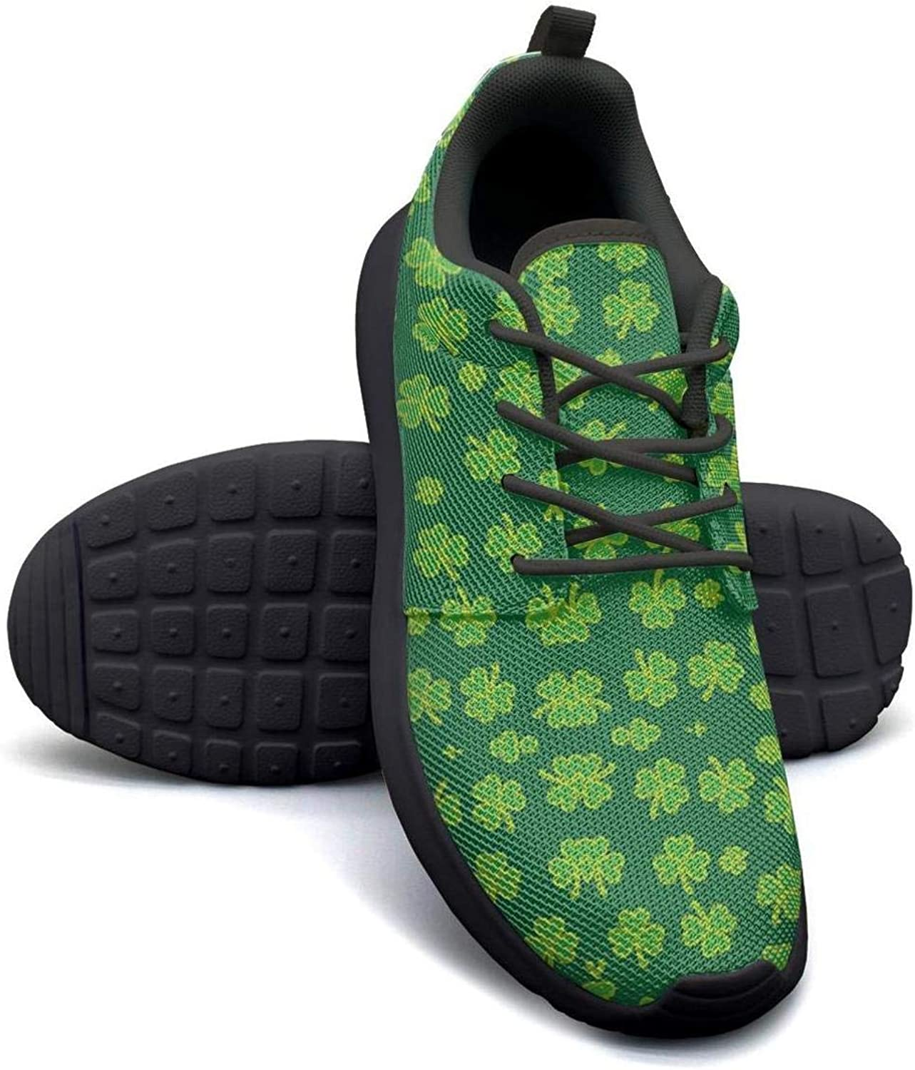 YSLC St Patricks Shamrock Running shoes Lightweight Women Sneaker Lace-up Breathable shoes