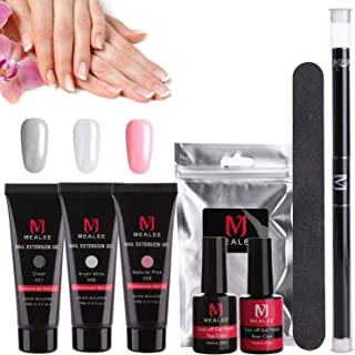 Mealee Nail Extension Gel Poly Nail Gel Kit Builder Gel All-in-One Nail Thickening Solution Nail Enhancement Tool Nail Starter Kit