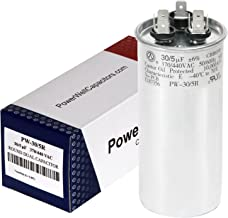 PowerWell 30 + 5 MFD uf 370 or 440 Volt Dual Run Round Capacitor PW-CAP-30/5/370-440R for Condenser Straight Cool or Heat ...