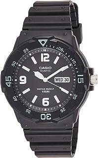 ساعة يد يمنا اسود وعرض انالوج وسوار من الراتنج من كاسيو - موديل MRW-200H-1B2VDF