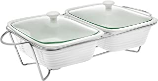 Oven to Table Double Baker Pan Holder Casserole Roasting Dish - 3qt