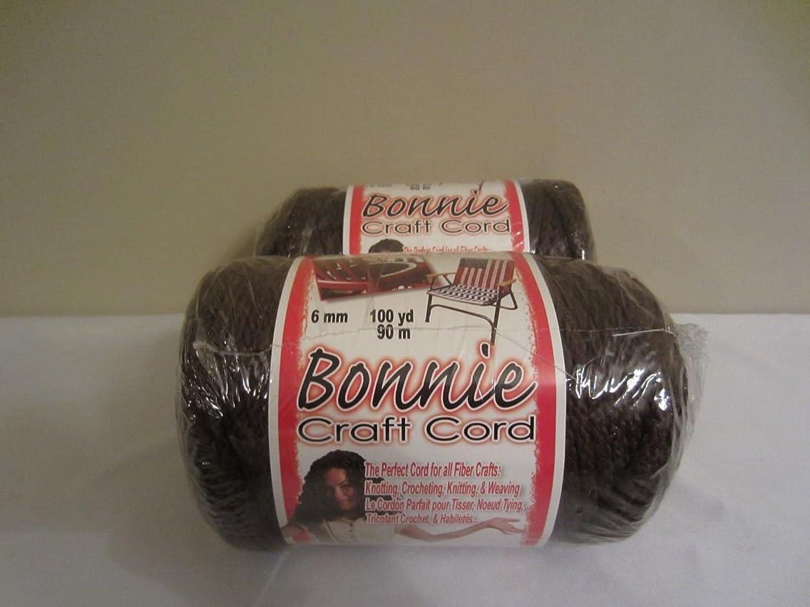 Bonnie Macrame Craft Cord 6mmx100yd-Brown