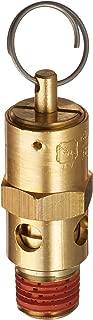 Control Devices SA25-1A125 SA Series Brass Hard Seat ASME Safety Valve, 125 psi Set Pressure, 1/4 Male NPT