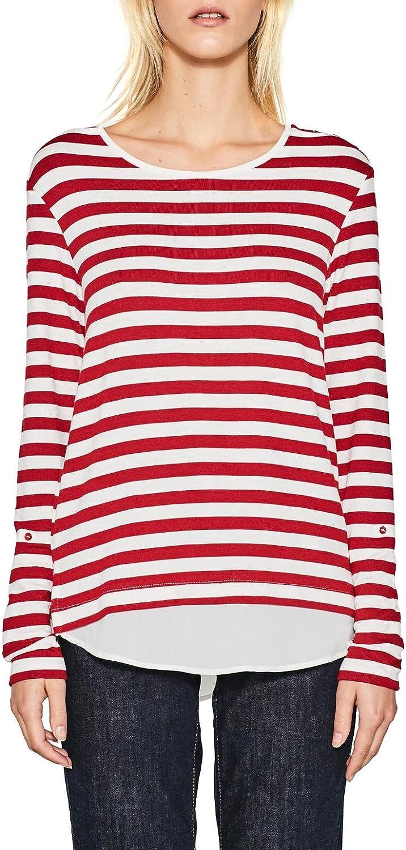 Esprit Women's Women's Red Striped Jersey Top