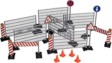 TOYSHARING Construction Street Signs Toys Imaginative Toy Road Signs Durable Easy Assemble Traffic Signs Playset Education for Kids Children Boy Gifts