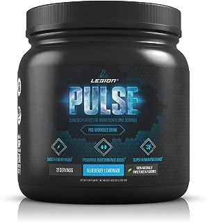Legion Pulse, Best Natural Pre Workout Supplement for Women and Men – Powerful Nitric Oxide Pre Workout, Effective Pre Workout for Weight Loss, (Blueberry Lemonade)