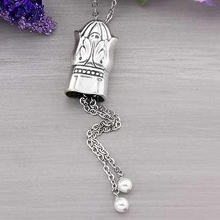 Antique Silverware Adjustable Slider Necklace Danish Princess 1938