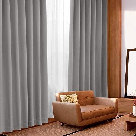 Bedsure遮光カーテン4枚セット幅100cm×丈135cm 防音遮熱一級遮光断熱遮音グレー目隠しかーてんしゃこうしゃねつ カーテンセット