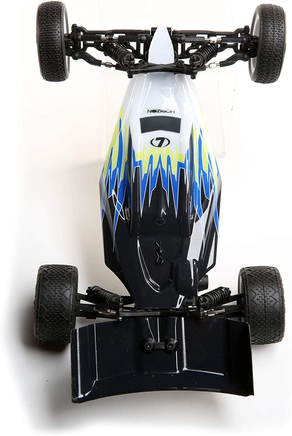 Black//White Ready-to-Run, no Additional Items Needed Losi RC Car 1//16 Mini-B Brushed RTR LOS01016T2 2WD Buggy