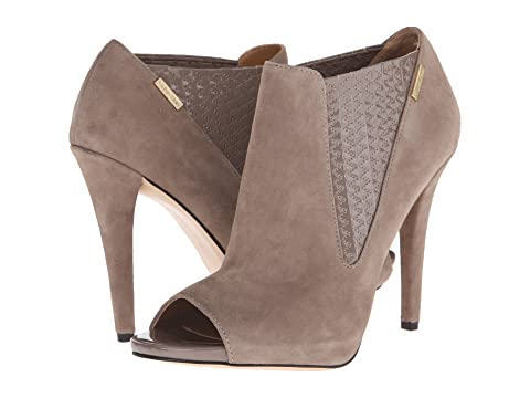 Womens Shoes Calvin Klein Neive Winter Taupe Kid Suede/Patent