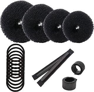 Sponsored Ad – Hair Bun Shaper Set,Include 4 pieces Hair Donut Bun Maker,Magic Hair Bun Maker 2 pieces,Hair Elastic Bands ...