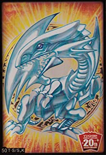 (100) Yu-Gi-Oh Card Protecter Blue-Eyes White Dragon Card Sleeves 100 Pieces 63x90mm #50