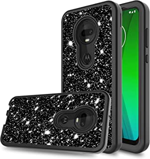 DONWELL Compatible Moto G7 Case Hybrid Three Layer Shockproof Protective Armor Cell Phone Case Cover Compatible Moto G7 Plus/Model XT1962-4 (Black)