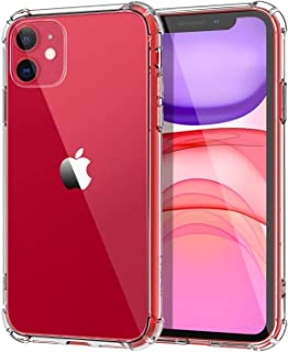 MoKo Compatible with iPhone 11 Case, Clear Reinforced Corners TPU Bumper + Anti-Scratch Anti-Yellow Transparent Hard Panel Cover Fit Apple iPhone 11 6.1 inch 2019 - Crystal Clear