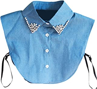 Women's Detachable Fake Collar Lace Floral Lapel Half-Shirt Collar