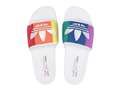 adidas adilette Pride (Footwear White/Orange/Scarlet) Men