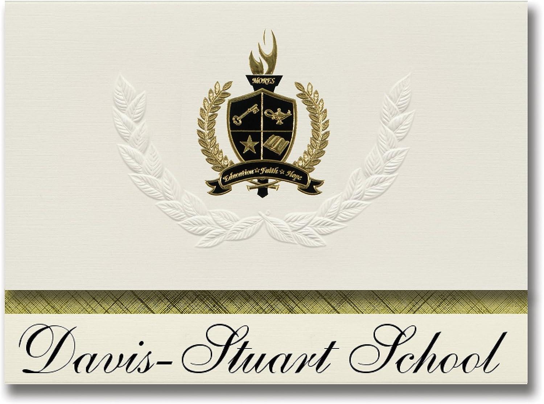 Signature Ankündigungen davis-stuart Schule (Lewisburg (, WV) Graduation Ankündigungen, Presidential Stil, Elite Paket 25 Stück mit Gold & Schwarz Metallic Folie Dichtung B078TT71V5   | Großartig