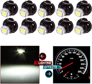 cciyu 10X White T4/T4.2 Neo Wedge LED Climate Control Light Bulbs Replacement fit for 1998-2010 Honda Accord/Odyssey/Civic