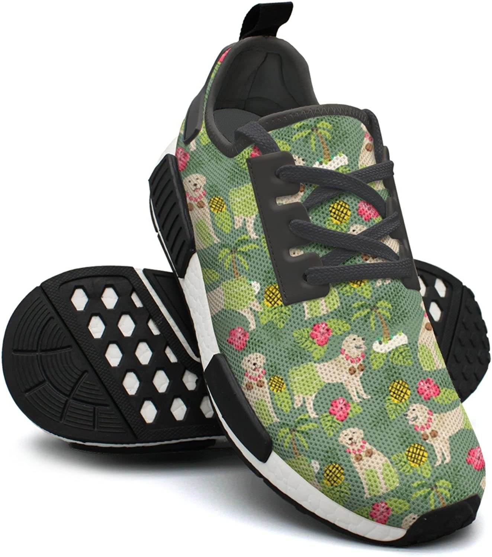 golden Retriever Hula Dancer Repeat Women's Designer Lightweight Sneakers shoes Gym Outdoor Gym shoes