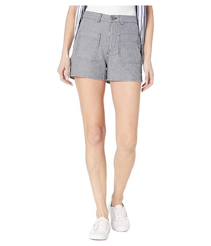 Vintage Shorts, Culottes,  Capris History Vans Barrecks High-Rise Cutoffs Shorts Dress Blues Womens Shorts $47.99 AT vintagedancer.com