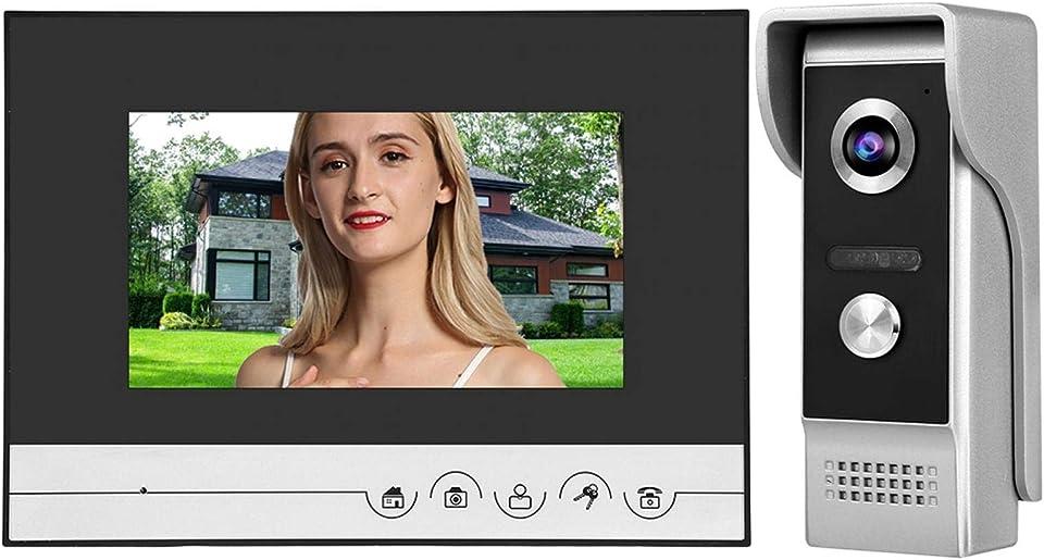 7-Zoll-LCD-Bildschirm Smart Doorphone Infrarot-Nachtsicht-Türklingel für die Sicherheit zu Hause und zur(European regulations)