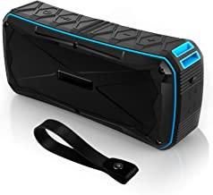 Portable Bluetooth Speaker Waterproof IP67,20W Stereo Pairing,12H Playtime Enhanced Bass Wireless Outdoor Speakers with Built-in Mic and Power Bank for Party,Travel,Camping,Beach,Shower (Blue)