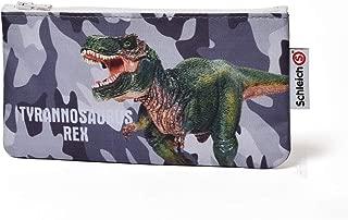 Schleich(シュライヒ) ペンケース 筆入れ ポーチ 小物入れ 恐竜柄 ティラノサウルス