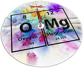 ETGMK OMG Periodic Table Science Nerd Geek Christmas Tree Skirt 30