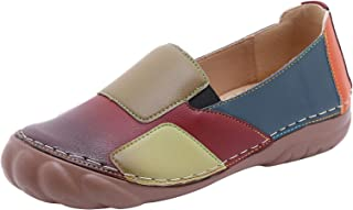 DAIFINEY Mocassin voor dames, loafers, eenkleurig, comfortabele schoenen, huisschoenen, slipschoenen, slip-on, modieuze vr...