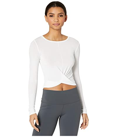 ALO Cover Long Sleeve Top (White) Women