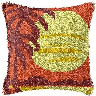 Tapisserie Tapisserie Faire des Kits pour Adultes Latch Hook Kit de loquet Crochet de loquet DIY Tapis Coussin Crocheting ...