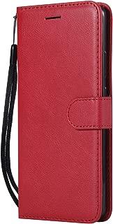 NEXCURIO Huawei Mate10 Pro ケース 手帳型 PU レザーケース 耐衝撃 カード収納 スタンド機能 マグネット式 ファーウェイMate10Pro ケース 携帯カバー おしゃれ - NEKTU13117 赤