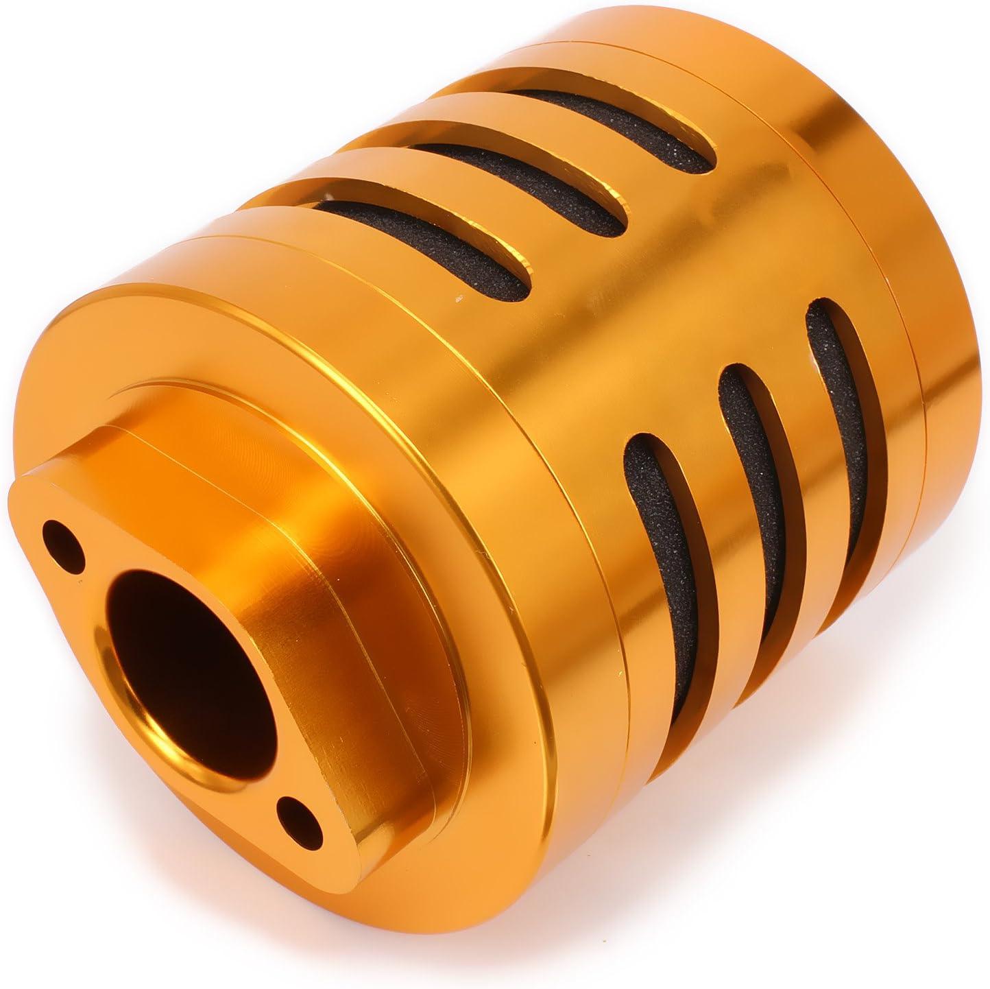Rcawd Luftfilter N10192 Rc Alloy Aluminium Für 1 5 Hobby Modell Gas Benzin Benzin Auto Buggy Truck Upgrade Hop Up Teile Hsp Axial Hpi Traxxas Losi 1pcs Gold Küche Haushalt