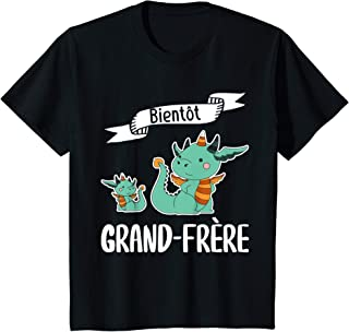 Enfant Annonce Grossesse Grand Frère Enfant Souvenir Bébé Naissance T-Shirt