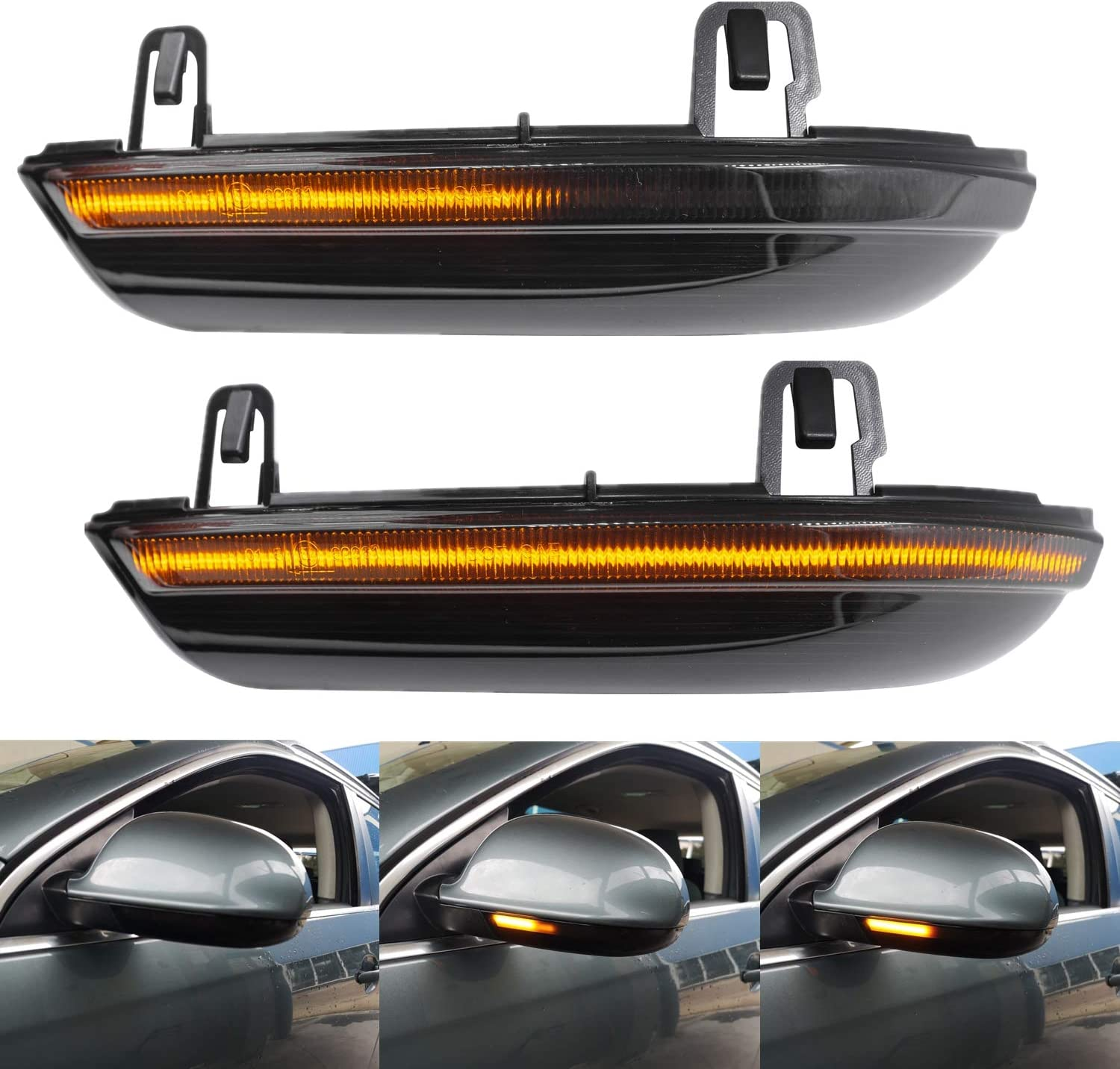 security NSLUMO Smoked Super sale period limited LED Dynamic Side Compatible with Mirror Blinker VW