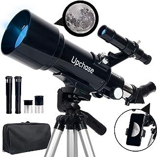 Upchase Telescopio Astronomico, 400/70mm Portátil y Potente Refractor Telescopio, Adecuado para Principiantes-Regalos para...