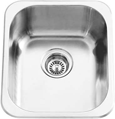 "Naiture Stainless Steel Drop-in Bar Kitchen Sink-15"" L X 17-3/8"" W X 7"" H"