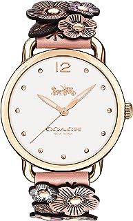 ساعة ديلانسي للنساء بمينا لون ابيض باهت من كوتش 14502822