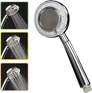 3 Spray Settings Shower Head Water Saving High Pressure Handheld Showerhead G1/2 Adjustable Bathroom Shower Head Polished ...