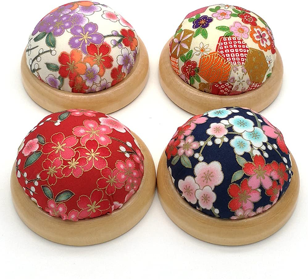 4 Pieces Ball Shaped Needle Wooden Pin Challenge the lowest price of Japan Hol Cushion New item Bottom