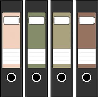4 x Akten-Ordner Etiketten//Sonnenuntergang /über dem Meer//Design Aufkleber//R/ücken Sticker//f/ür breite Ordner//selbstklebend 6cm breit