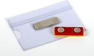 OPUS 2 Porte-badge avec aimant, 90x54mm, 121268, Lot de 24 blanc