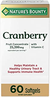 Cranberry Concentrate w/ Vitamin C by Nature's Bounty, Dietary Supplement, Supports Urinary Tract and Immune Health, 25200...
