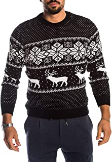 Unisex Ugly Christmas Sweater Pullover Knitted Holiday Reindeer Cute Pullovers