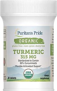 Puritan's Pride Organic Turmeric Extract, 315 mg, 30 Tablets