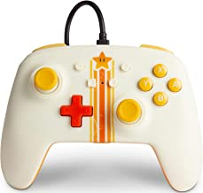 PowerA Enhanced Wired Controller for Nintendo Switch - Vintage Star, Gamepad, Wired Video Game Controller, Gaming Controll...