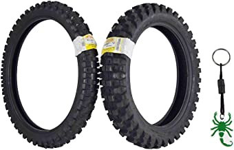 Pirelli Scorpion MX32 Extra X Dirt Bike Front and Rear Motocross Tires Set w Authentic Pirelli Scorpion Key Chain (80/100-21 F 120/90-19 R)